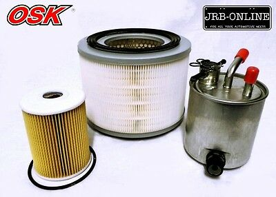 Nissan Patrol Gu 3L Turbo Diesel Guvi Zd30Oil Air Fuel Filter Service Kit 07-On