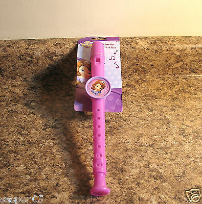 Disney SOFIA THE FIRST Flute Recorder Musical Instrument Pretend Play NEW