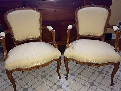 A Set Of 19th Century French Louis XV Antique Carved Chairs