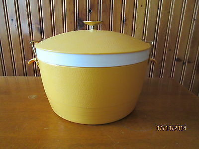 VINTAGE RETRO 1960'S YELLOW SUNFROST THERM-O-WARE ICE BUCKET INSULATED BOWL