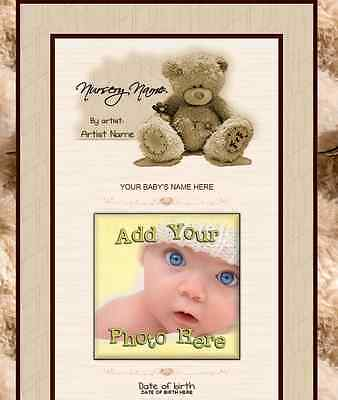 SWEETNESS eBay Listing Auction Template BABY Teddy Bear brown ADORABLE doll EASY