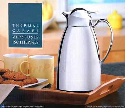 1x Thermal Carafe Bottle Flask Pot For Coffee Beverage Tea 6 Hours Cold/Warm