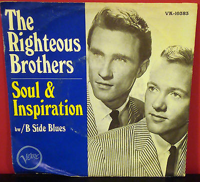 Picture Sleeve RIGHTEOUS BROTHERS Soul And Inspiration 1966 VERVE Blue Eyed Soul