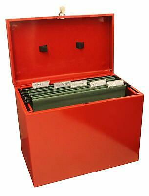 Metal File Storage Box Foolscap With Lockable Lid In Various Colours