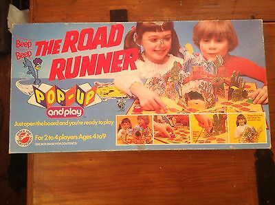 Vintage Board Game 3D Pop up And Play Road Runner Warner Brothers Peter Pan