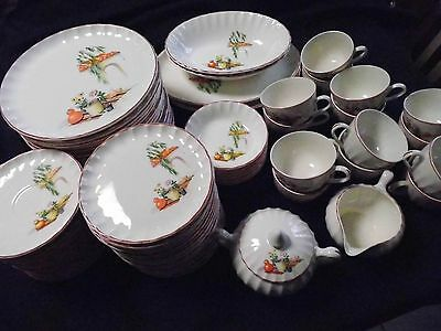 Excellent 1950s W.S. George GRACIA Mexican China Dinnerware Party Set 78 pieces!