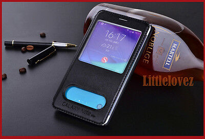 Window S View Flip Leather  Case For Samsung Galaxy Note Edge Cover