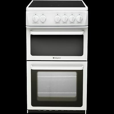 Hotpoint HAE51PS Freestanding Electric Ceramic Twin Cavity Cooker in White