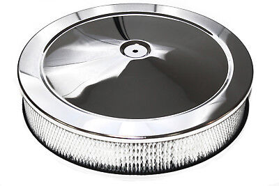"""14""""x 3"""" Chrome Air Filter / Cleaner Pro Street Touring Hot Rod"""