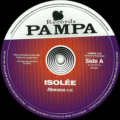 ISOLEE - ALLOWANCE / PAMPA013 (You Could Do Your Memories, Wobble) NEW PAMPA REC