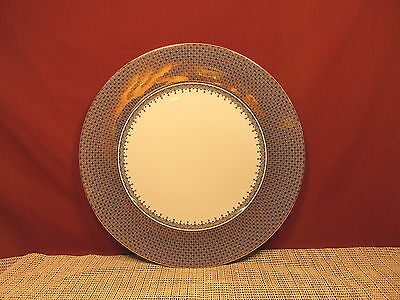 "Mottahedeh China Gold Lace Pattern Service Charger Plate 12"" New"
