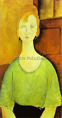 Modigliani52 Artist Painting Reproduction Handmade Oil Canvas Repro Art Deco