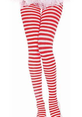 Red & White Stripe Plus Size Tights Sexy Gothic Lolita Punk Cosplay Dance Rock