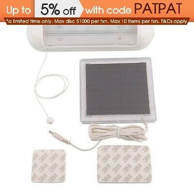 Indoor Outdoor Solar  Panel 5-LED Garden/Path/Wall Lamp Shed Flood Light AU POST