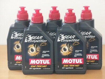 15,80€/l Motul Gear Competition 75W-140 GL-5    5 x 1 L
