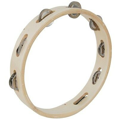 "Chord 10"" wooden ring tambourine with 8 jingles"