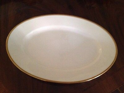 Limoges Bawo Dotter Elite Works Gold Embossed Diamond Trim Large Oval Platter