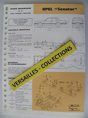 Fiche technique automobile carrosserie OPEL SENATOR