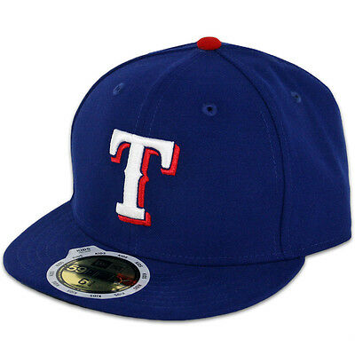 New Era 59FIFTY Fitted MLB AC YOUTH On Field Texas Rangers Game Cap