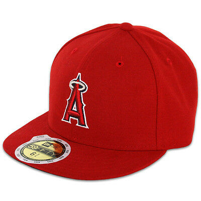 New Era 59FIFTY Fitted MLB AC YOUTH OnField LA Angels of Anaheim Game Cap Hat