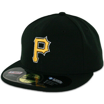 Pittsburgh PIRATES ALTERNATE Black New Era 59FIFTY Fitted Cap MLB AC OnField Hat
