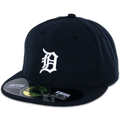 Detroit TIGERS HOME Game New Era 59FIFTY Fitted Caps MLB AC On Field Hats
