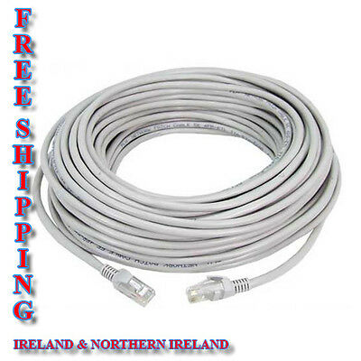 CAT5 Network Router Ethernet Broadband Cable RJ45 / Lead 20m GREY