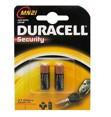 2 X Duracell Mn21 12V A23 23A Lrv08  Alkaline Batteries For Doorbell, Rc, Alarms
