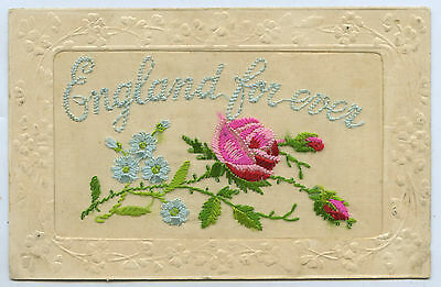 1915 Ww1 Silk Postcard Sent From France By Aif Soldier To Aust H1