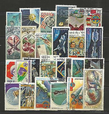 SPACE EXPLORATION Collection Packet 25 Different Stamps (Lot 2)