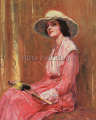 Rose Woman Pink Artist Painting Reproduction Handmade Oil Canvas Repro Art Deco
