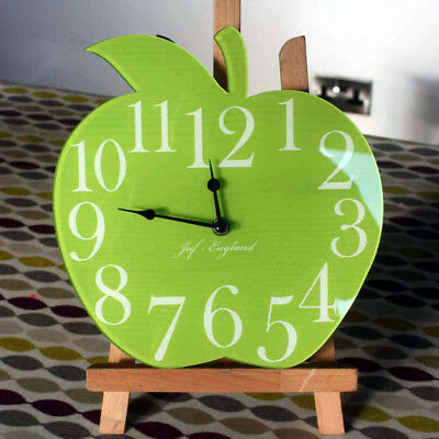 Cute Apple Clock, Apple Shaped Wall Clock, Wooden effect, Load of Colours