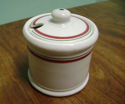 SHENANGO  NEW CASTLE,PA. RESTURANTWARE SUGAR BOWL WITH COVER!!