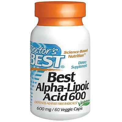 DOCTORS BEST - ALPHA LIPOIC ACID - 600mg x 60 VEG CAPS - FREE RADICALS DEFENCE