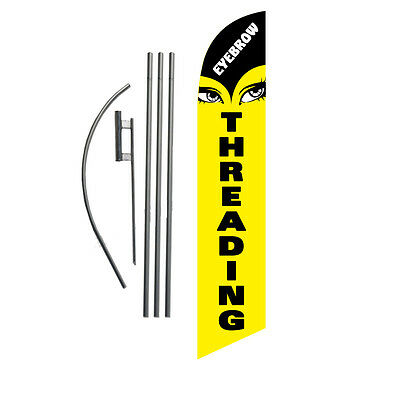 Eye Threading 15' Feather Banner Swooper Flag Kit with pole+spike