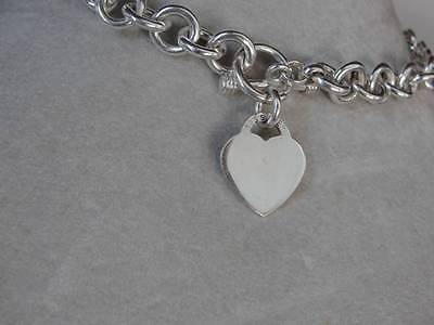 Sterling Silver 925 HEART Fancy HEAVY Link TOGGLE Necklace (18in) 98g QG1151-18I