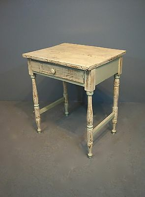 """Antique 1 Drawer Washstand Painted Shabby Chic Distressed Sea Shell H:29""""xW:24"""""""