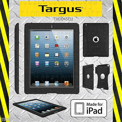 Targus SafePORT *IMPACT RESISTANT* Tough Duty Case Cover for Apple iPad 2, 3 + 4