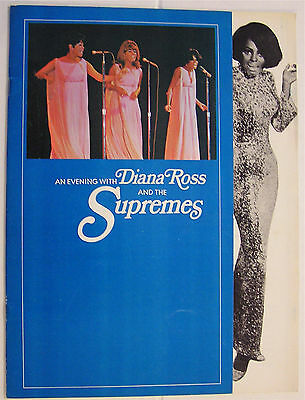An Evening with Diana Ross And The Supremes 1968 Program Beautiful Condition