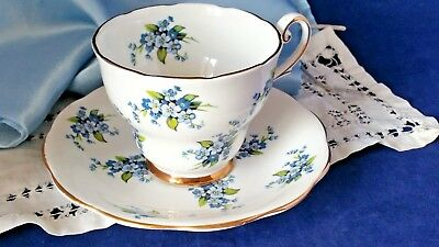 "Royal Standard ~ Fine English Bone China ~ Tea  Cup & Saucer ~""forget Me Not"""