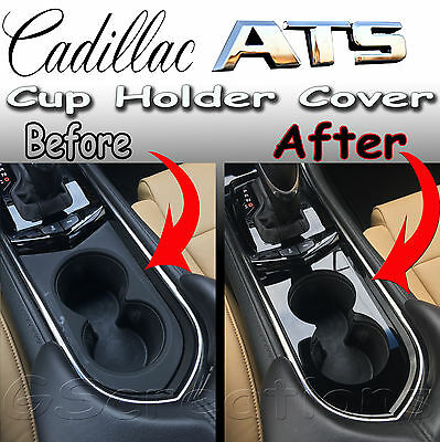 Cadillac ATS Front Cup Holder Cover Cut Out Style 2013 2014 2015 2016