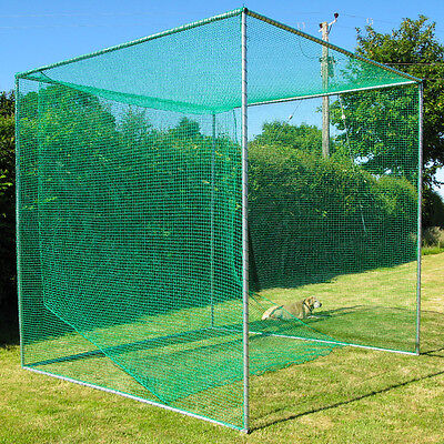 Golf Cage Net 10' x 10'  x 10' Practice Netting With Baffle - 24hr Ship