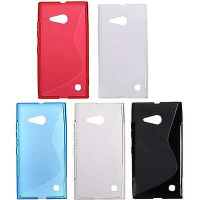 Custodia WAVE S Line Cover TPU Morbida Gel Gomma per Nokia Lumia 735 730 RM-1039