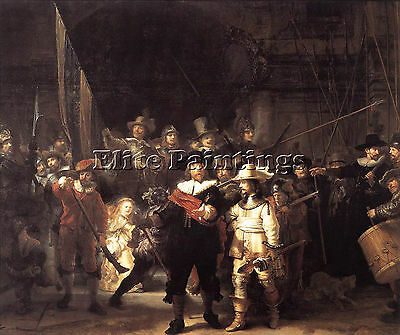 Rembrandt The Nightwatch Artist Painting Handmade Oil Canvas Repro Wall Art Deco