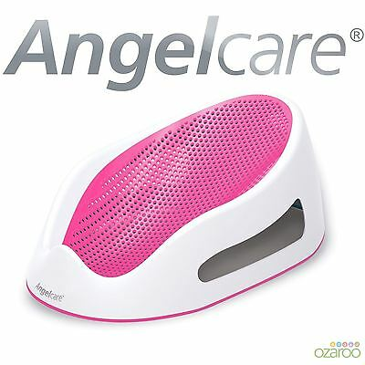 Angelcare Soft Touch Baby Bath Support Seat + Water Level Indicator - Girls Pink