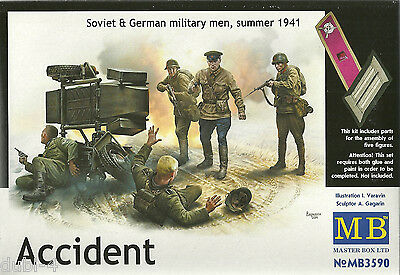 Master Box MB 3590 Soviet & German military men 1941 - Accident - 1:35