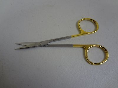 "T.C MICRO IRIS SCISSORS 4.5"" Straight German Stainless Steel CE Surgical"