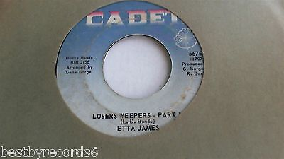 Etta James: Weepers/Losers Weepers/Pt 2  (rare R&B Soul 45 rpm 7')  Cadet HEAR