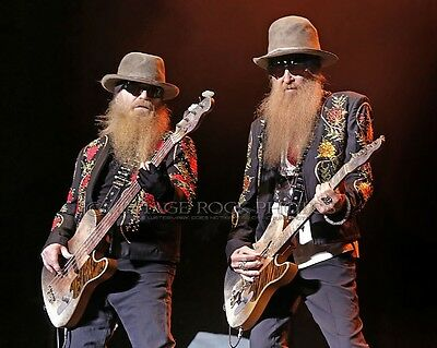 ZZ Top Poster Gibbons, Hill Photo 11x14 in 2013 Concert Manchester Apollo UK s56