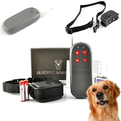 New 4 in 1 Remote Size S /M / L Dog Training Shock + Vibrate Collar Trainer USA